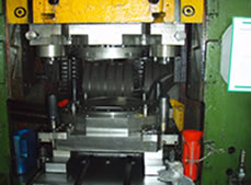 Portion of Mechanical Press with Tooling